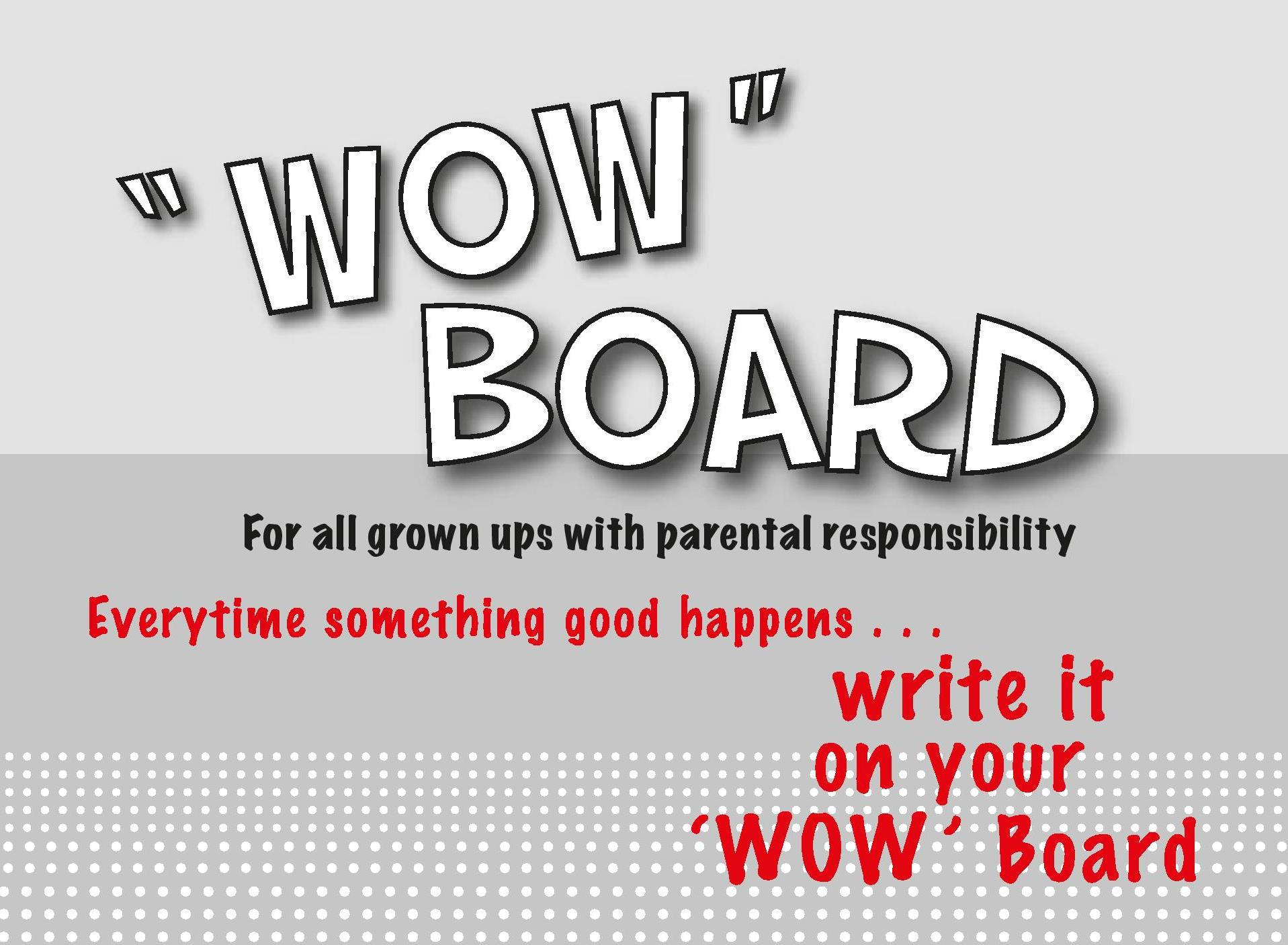 WOW Board for adults - parenting products - cover page shot