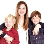 dealing with sibling rivalry - mother with brothers