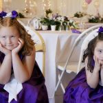 bored looking flower girls