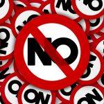 Signs saying No
