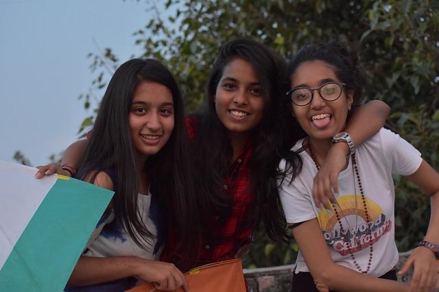 three girls - friends