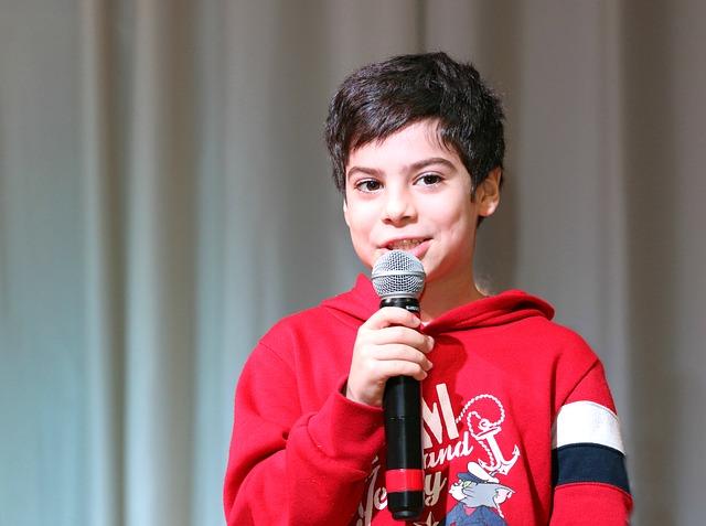 Boy with mircophone