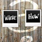 Polaroid photos saying who, why, what, when, how