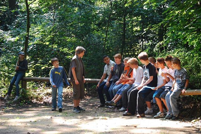 Teenage Boys Alone on Forest Trip
