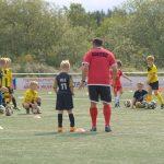 Teamwork - Boys training in football team