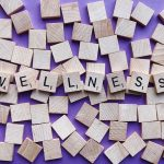 Scrabble bricks spelling Wellness