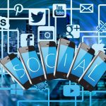 Social Medias shown on mobile phones