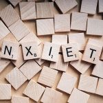 Anxiety spelt in scrabble tiles