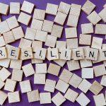 Scrabble Tiles spelling Resilient