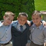 Three Boys -Friends with Arms round each other