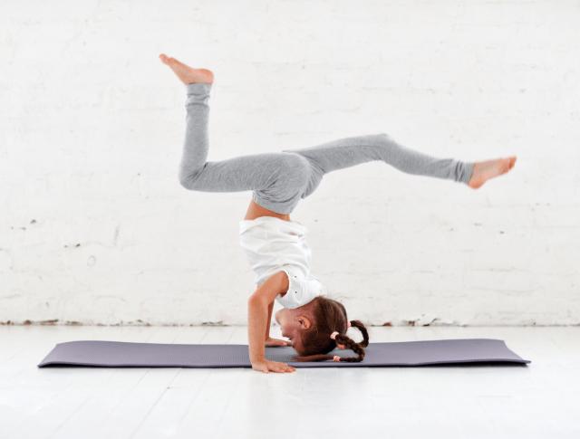 child doing yoga and gymnastics